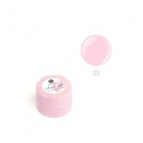 Акригель для наращивания ногтей ADRICOCO №03 камуфлирующий глубокий розовый (10 мл.)