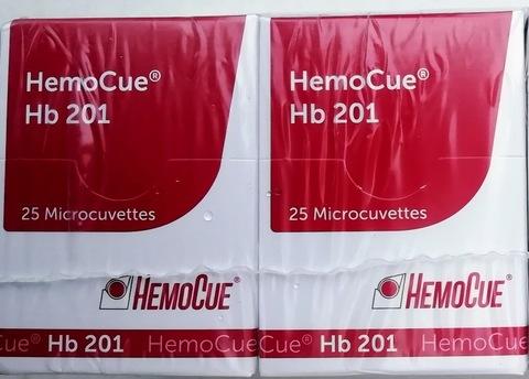 111722 Микрокюветы для определения гемоглобина HemoCuе Hb 201+, 4х25 шт/упак HemoCue, Швеция