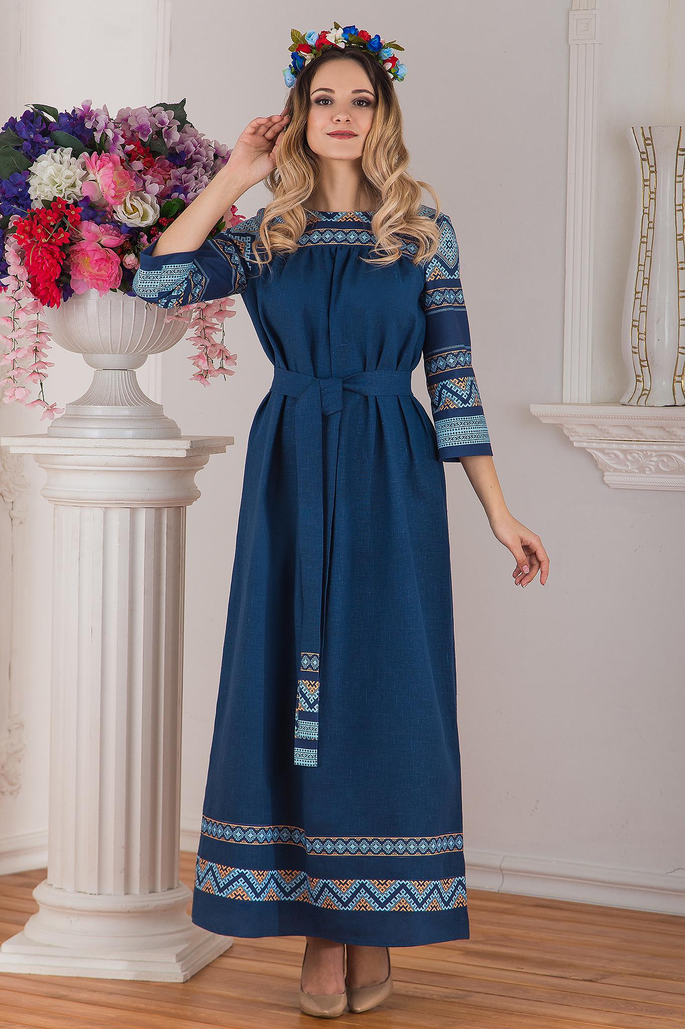 платье Каспийское в русском стиле