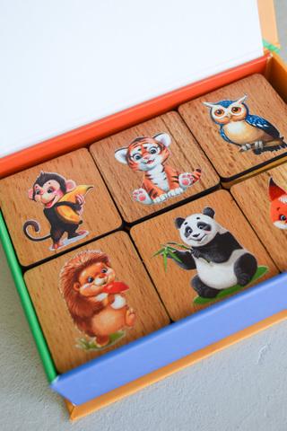 Мемори «Мир животных» в картонной коробочке