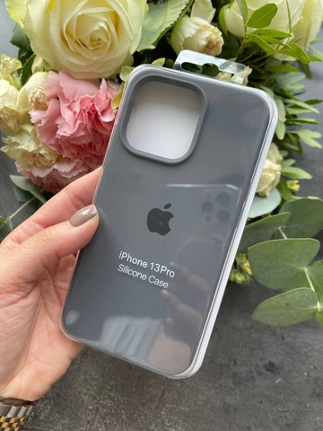 Чехол iPhone 13 Pro Max Silicone Case Full /charcoal grey/