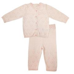 Папитто. Комплект кофточка и штанишки Сердечки, розовый вид 1