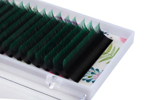 Купить Омбре зеленые ресницы Lash Go 16 линий (микс длин) в официальном магазине Lash-Go.ru