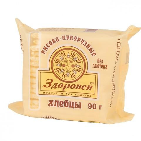 Хлебцы Здоровей Рисово-Кукуруз б/глютена 90г