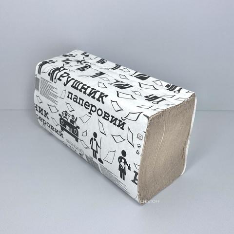 Полотенце бумажное листовое макулатурное Альбатрос V сложения 1сл. (160 л.) серое
