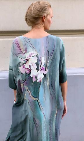Шелковое платье Орхидеи