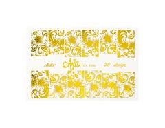 Фольга для дизайна ногтей цвет золото 30