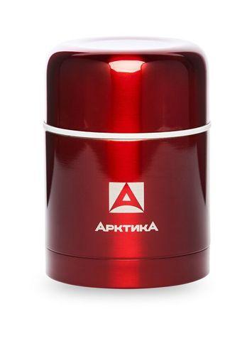 Термос для еды Арктика (0,5 литра) с супер-широким горлом, красный