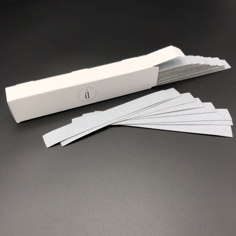 Сменные файлы 120*18 мм для основы M - 240 грит СЕРЫЕ (50 штук)