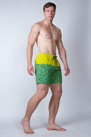 "Swim shorts ""Green khokhloma"""