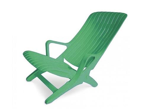 Пластиковый шезлонг №1 зеленый