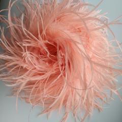 Боа  из перьев страуса и пуха 30 гр. ярко-персиковый