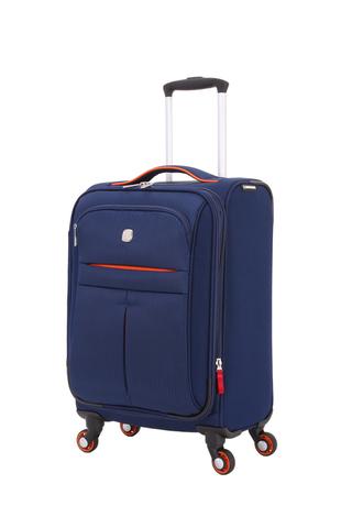 Чемодан WENGER AROSA, 58x35x21 см., 30 л., полиэстер, цвет синий (WG6593307154)