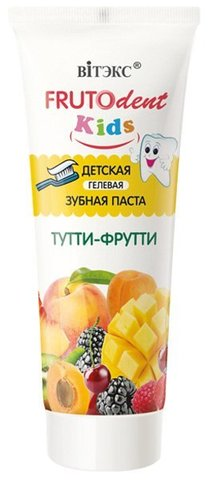 Витекс FRUTOdent Kids Детская гелевая зубная паста ТУТТИ-ФРУТТИ 65
