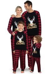 Пижама для всей семьи с Рождественским оленем