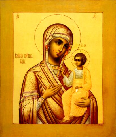 Икона Божией Матери Иверская на дереве на левкасе мастерская Иконный Дом