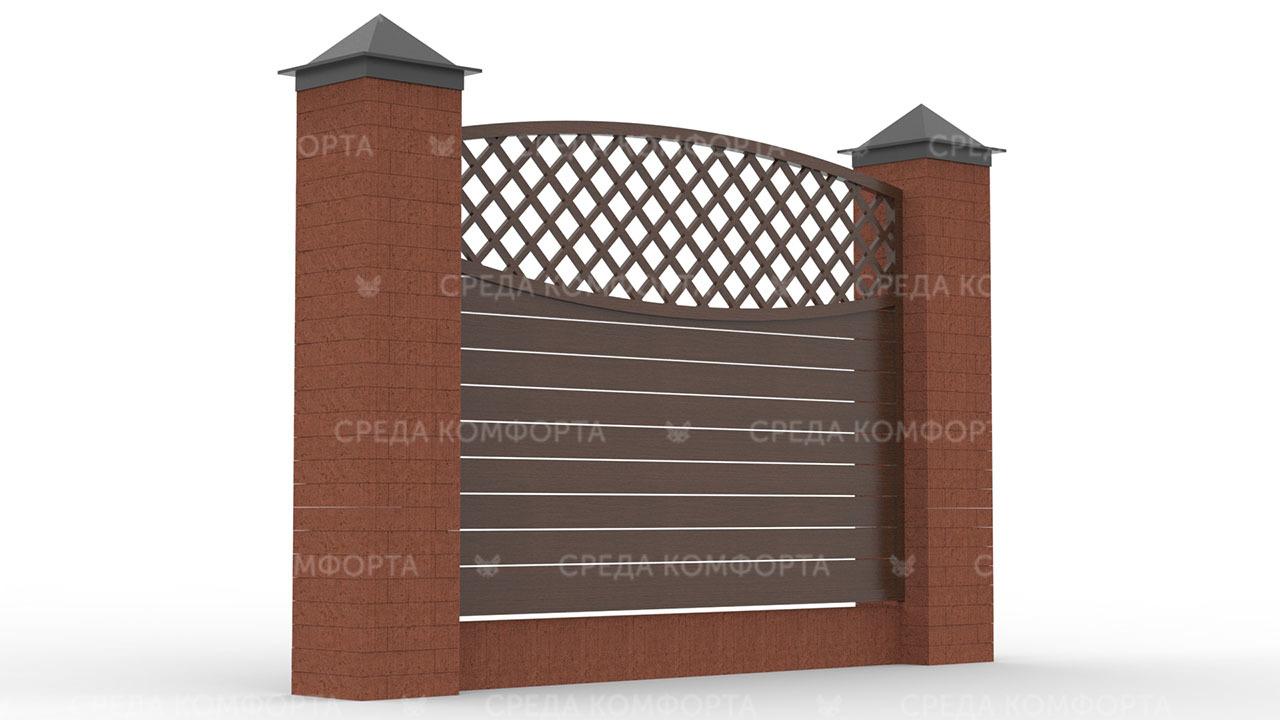 Деревянный забор ZBR0090