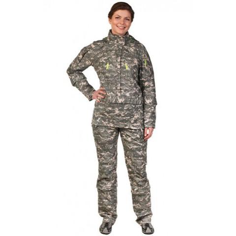 Женский противоэнцефалитный костюм Биостоп® - Премиум, зеленый камуфляж