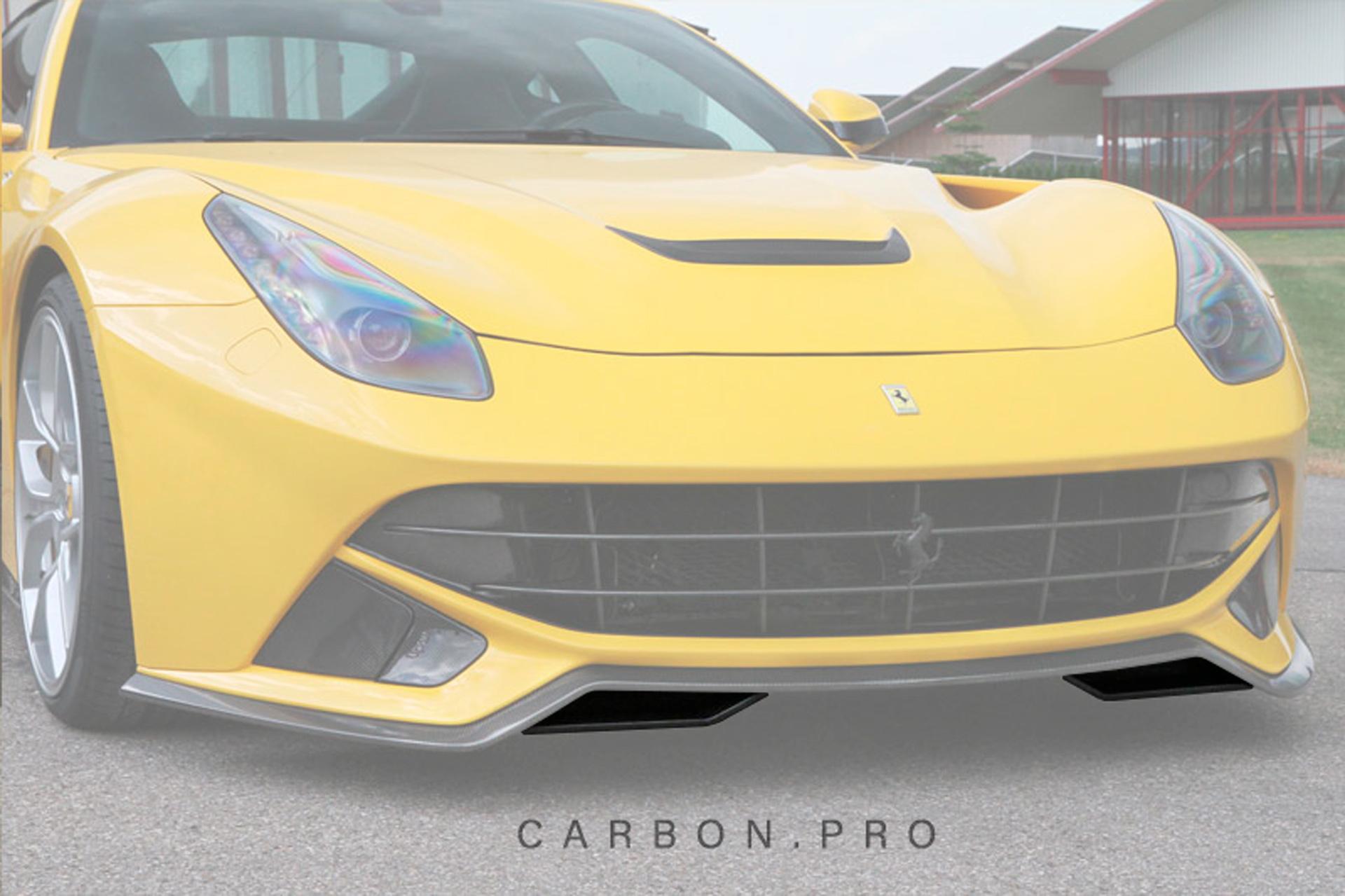Карбоновые накладки под спойлер переднего бампера Novitec Style для Ferrari F12 Вerlinetta