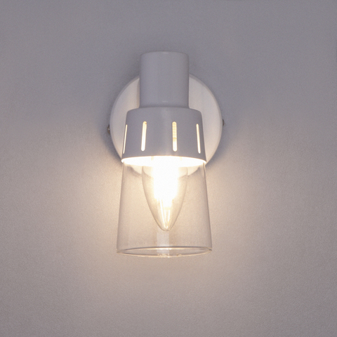Настенный светильник с выключателем 20081/1 белый