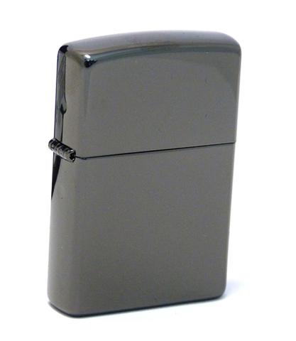 Зажигалка Zippo Classic с покрытием Ebony, латунь/сталь, чёрная, глянцевая, 36x12x56 мм