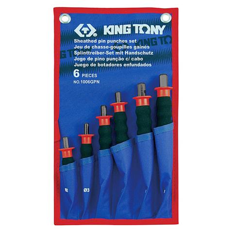 KING TONY (1006GPN) Набор выколоток с протектором, чехол из теторона, 6 предметов