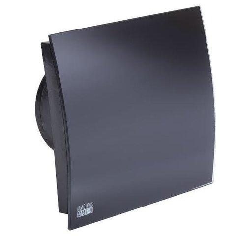 Вентилятор накладной энергосберегающий бесшумный MMotors JSC MMP-O-UE 100 Овал Стекло/Черный