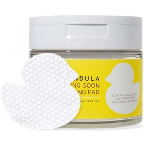 Wellderma Подушечки для снятия макияжа Calendula Calming Soon Cleansing Pad, 60 шт