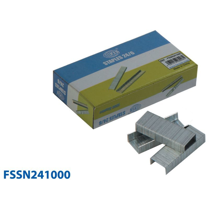 Канцтовары FIS Скобы для степлера FSSN241000 24/6, 1000 штук.
