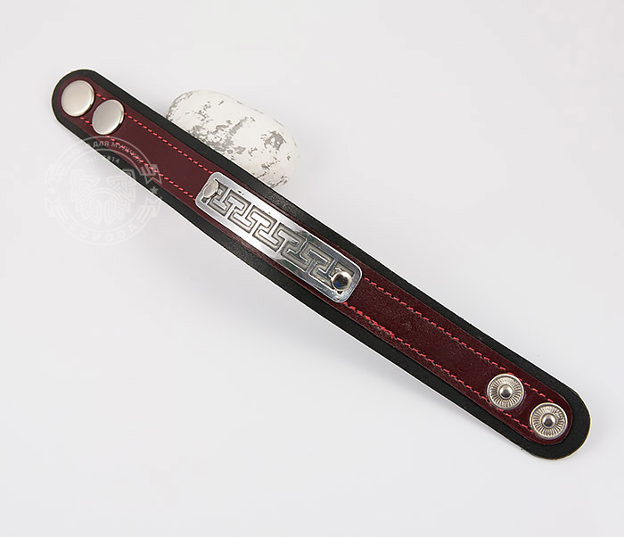 BL457-4 Оригинальный мужской браслет бордового цвета, ручная работа фото 02