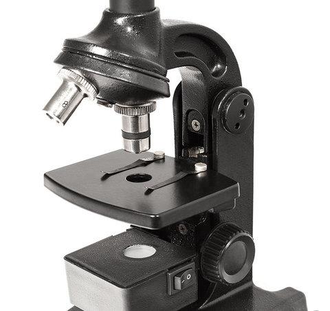 Микроскоп Юннат 2П-1 с подсветкой Черный