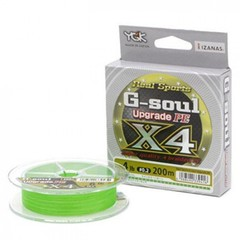 Плетёный шнур YGK G-Soul PE X4 Upgrade 150m #0.2/4lb Green