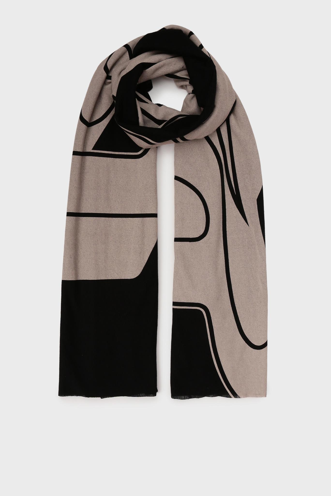 Черный шарф с принтом S-KIKA Diesel