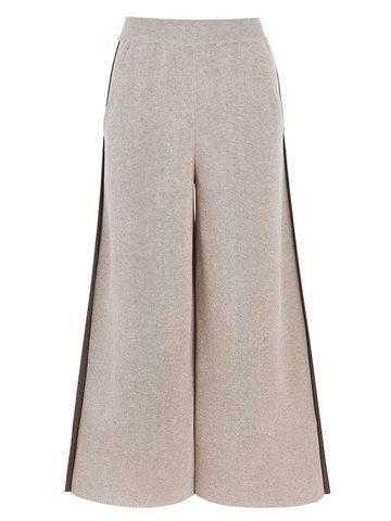 Женские брюки песочного цвета из вискозы - фото 1