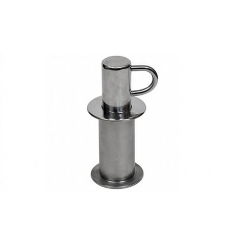 Анкерное крепление нерж.AISI-304 (гориз. анкер+стойка) для разд. дорожек в бетонный бассейн/ПР.000.4