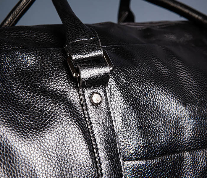 BAG521-1 Кожаная дорожная сумка с ручками и ремнем фото 06