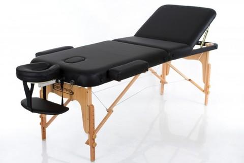 Массажный стол деревянный 3-хсекционный RESTPRO VIP 3 Black