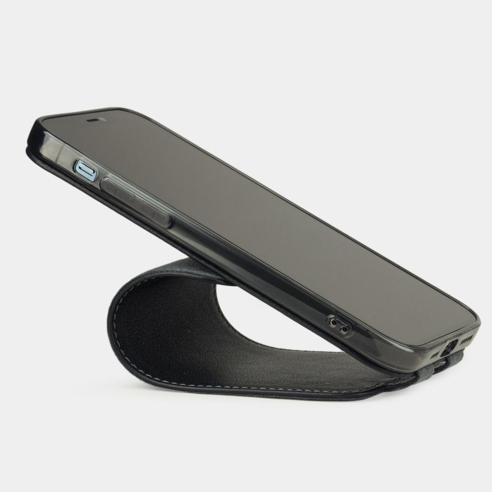 Чехол для iPhone 12/12Pro из натуральной кожи аллигатора, черного цвета