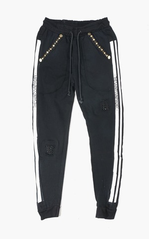 Джоггеры F006 TRACKPANT BLACK AND GOLD The Saints Sinphony