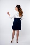 Платье для беременных 05709 белый-синий