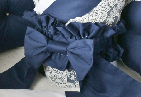 Бант на одеяло - конверт Индиго