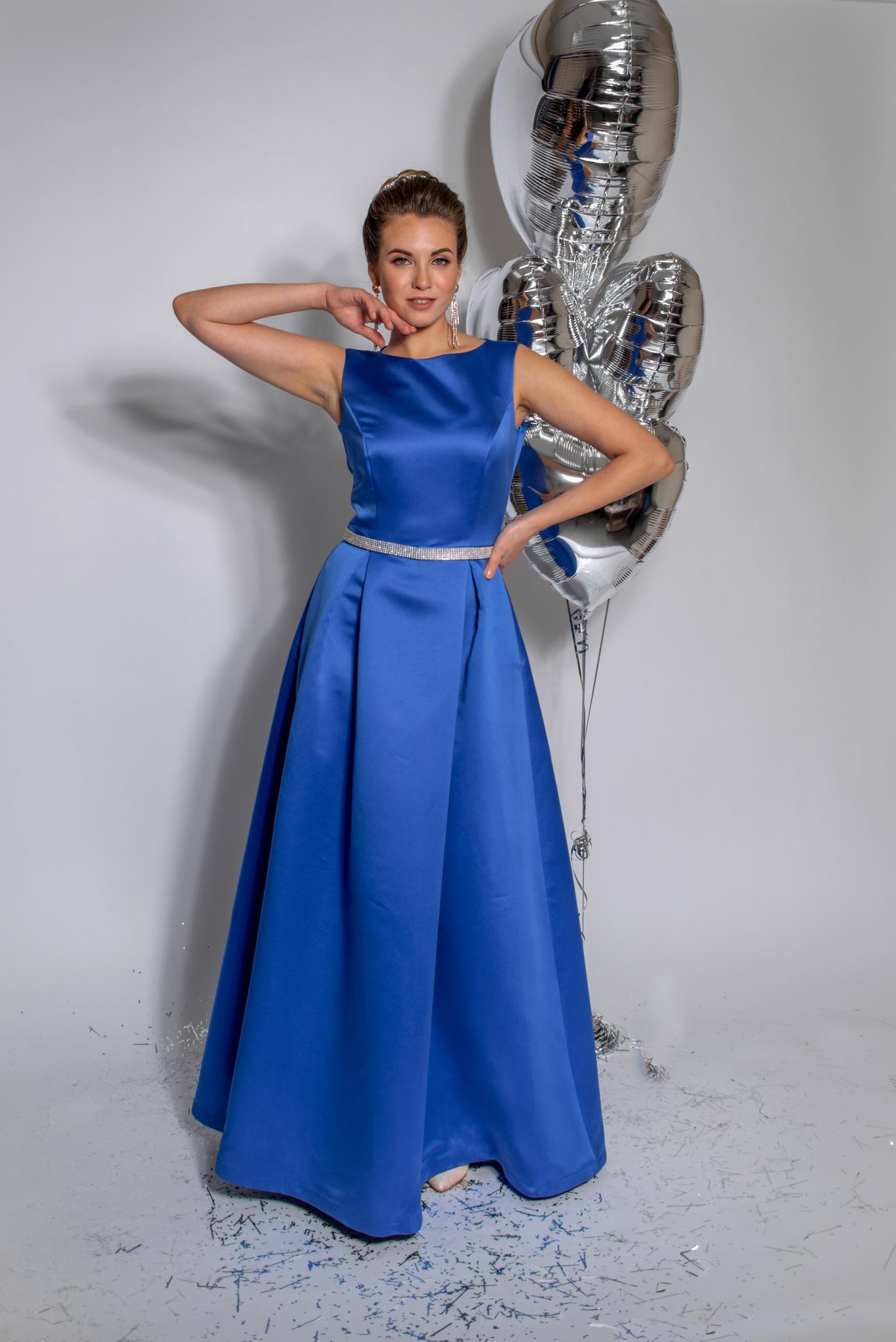 Нарядное платье Классика (василек)