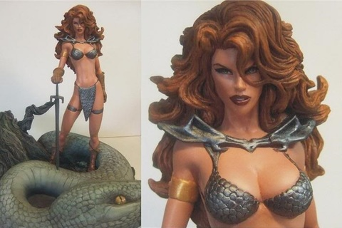 Red Sonja Resized Edition Statue Michael Turner