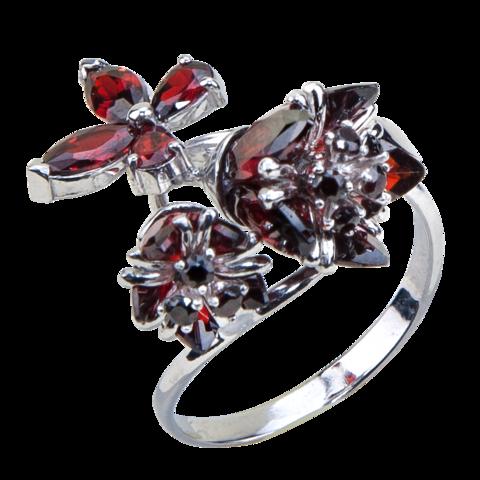 Кольцо с тюльпанами из циркония Арт. К1191