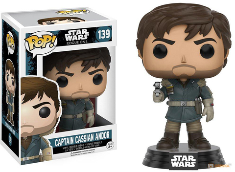 Фигурка Funko POP! Bobble: Star Wars: Rogue One: Captain Cassian Andor Mountain Outfit C
