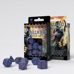 Wizard Dark-blue & orange Dice Set