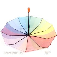 Радужный зонтик автомат M.N.S. с оранжевой рукояткой