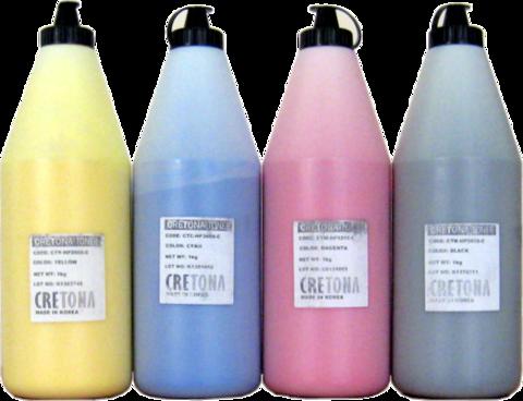 Тонер цветной CRETONA KOREA Q6001A (CTC-HP2600-C) голубой (cyan), упаковка 1кг. - купить в компании MAKtorg