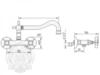 Смеситель для кухни настенный Migliore Princeton, ML.CUC-852 схема
