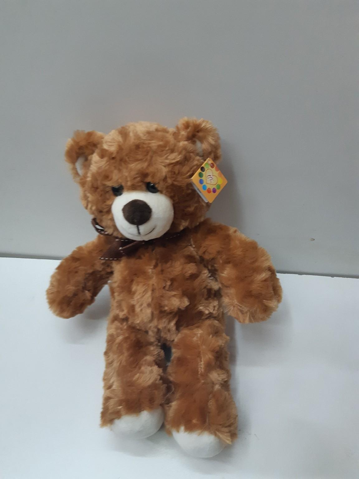 Мягкий медвежонок с бантиком в двух расцветках